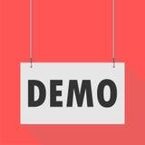 Demo Hanging Sign illustration stock