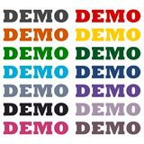Demo icons set Royalty Free Stock Images