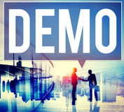 Demo Preview Trailer Trial Ideal Concept Royalty Free Stock Photo