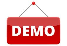 Demo red sign Royalty Free Stock Photography