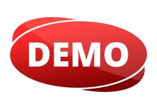 Demo red sign Stock Photography