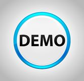 Demo Round Blue Push Button illustration stock