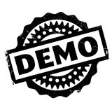 Demo rubber stamp Stock Images