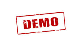 Demo. Rubber stamp with word demo inside,  illustration Royalty Free Stock Photography