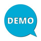 Demo with shadow, Speech Bubble Royalty Free Stock Photos