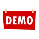 Demo Sign - illustration Photo libre de droits