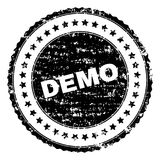 DEMO Stamp Seal texturisé rayé illustration stock