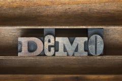 Demo wooden tray Stock Photo