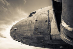 Demobbed airplane Royalty Free Stock Images