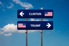 Democraat en republikeinse concepten in Amerikaanse verkiezing Royalty-vrije Stock Afbeeldingen