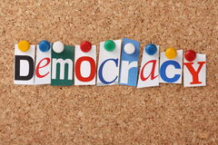 Democracia imagens de stock