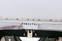 Democracia conceptual Fotografia de Stock