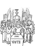 Democracia do voto da eleição ilustração do vetor