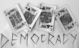 Democracy. In Today's World rule by kings stock image