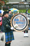 Democracy 250 Pipe Band, Halifax, Nova Scotia. Celebration in Halifax, Nova Scotia of 250 years of Democracy in Canada.  Canada's first elected assembly  met for Stock Image