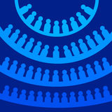 Democracy. People lined up in circles (parliament, social network, democracy concept Stock Images
