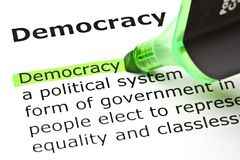 Democracy Definition Royalty Free Stock Images
