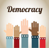 Democracy. Design over beige background vector illustration Royalty Free Stock Photos