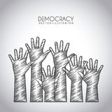 Democracy design Royalty Free Stock Images