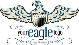 Democracy eagle emblem Royalty Free Stock Photo