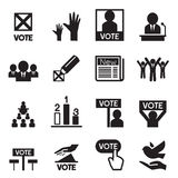 Democracy icon set Royalty Free Stock Images