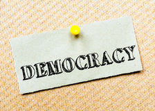 Democracy Message Stock Photos