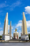 Democracy monument in Bangkok, Thailand. Democracy monument with blue sky in Bangkok, Thailand Royalty Free Stock Images