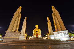 The Democracy Monument in Bangkok of Thailand. BANGKOK,THAILAND-DECEMBER 29 :The Democracy Monument (Anusawari Prachathipatai) is the main public monument in the royalty free stock photography