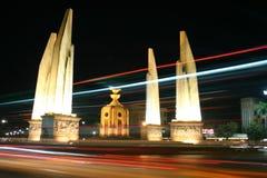 Democracy Monument, Bangkok, Thailand. A hub of activity at any time of day Royalty Free Stock Photos