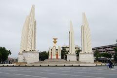 Democracy Monument in Bangkok, Thailand. At the morning stock photo