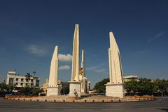 Democracy Monument in Bangkok, Thailand. No Traffice Jam In Bangkok ,Democracy Monument stock photos
