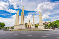 Democracy Monument Bangkok. BANGKOK, THAILAND - OCTOBER 8, 2015: The Democracy Monument and traffic circle. The monument dates from 1939 and commemorates the stock images