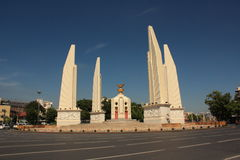 Democracy Monument in Bangkok, Thailand. Without Traffic Jam stock images