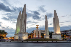 Democracy monument in Bangkok under twilight sky Royalty Free Stock Images