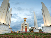 Democracy monument in Bangkok under twilight sky Stock Photography