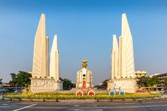 The Democracy Monument with bicycle installation, Bangkok, Thailand, Asia stock photography