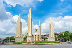 Democracy monument with blue sky in Bangkok. Thailand stock images