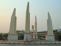 Democracy monument in the capital of Thailand Stock Photos