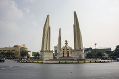 Democracy monument in the centre of Bangkok Royalty Free Stock Images