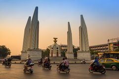 Democracy monument in the centre of Bangkok Royalty Free Stock Photos