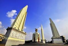 The Democracy Monument. Circus at Bangkok stock images