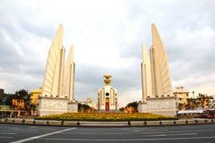 Democracy monument at dusk Royalty Free Stock Photo