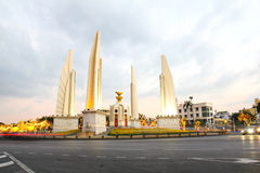 Democracy monument at dusk Stock Photo