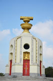 Democracy of Monument and four wing-like structures which guard the Constitution, representing the four branches of the Thai armed. Democracy of Monument and Royalty Free Stock Photos
