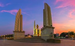 The Democracy Monument is a historical of constitution monument. In Bangkok, Thailand stock photo