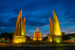 Democracy Monument. The Democracy Monument is a historical of constitution monument in Bangkok,Thailand stock photos