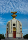 The Democracy Monument. Located on Ratchadamnoen Road Central Bangkok Moderately cloudy skies Stock Photography