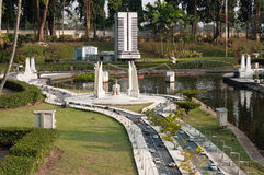 Democracy monument in Mini Siam Park Royalty Free Stock Images