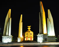 Democracy monument at night in Bangkok Royalty Free Stock Image