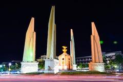 Democracy Monument at night, Bangkok, Thailand 171020 0250. Democracy Monument at night, Bangkok, Thailand stock photos